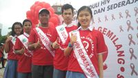 Diharapkan dengan adanya kampanye ini, pelajar dapat mengetahui soal pencegahan, penularan, serta pengobatan HIV. (Foto: Reza/detikHealth)