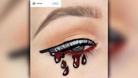 Inspirasi Riasan Mata Halloween: Knifeliner