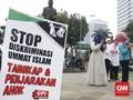 Perempuan dan Anak di Bawah Umur Ikut Demo Anti-Ahok