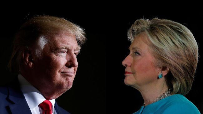 Mayoritas Warga Dunia Pilih Clinton jadi Presiden AS