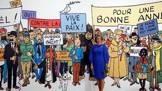Ada 'Assalamualaikum' di Pameran Tintin di Prancis