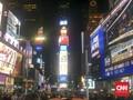 Ribuan Orang Padati Times Square, Nobar Proses Hitung Cepat