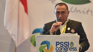 'Edy Rahmayadi Tetap Ketum PSSI Jika Jadi Gubernur Sumut'