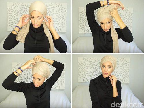 Tutorial Hijab Tanpa Jarum untuk Renang