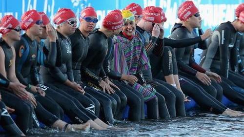 Ini Ironman Berhijab Pertama Asal Iran di Pertandingan Triathlon Dunia