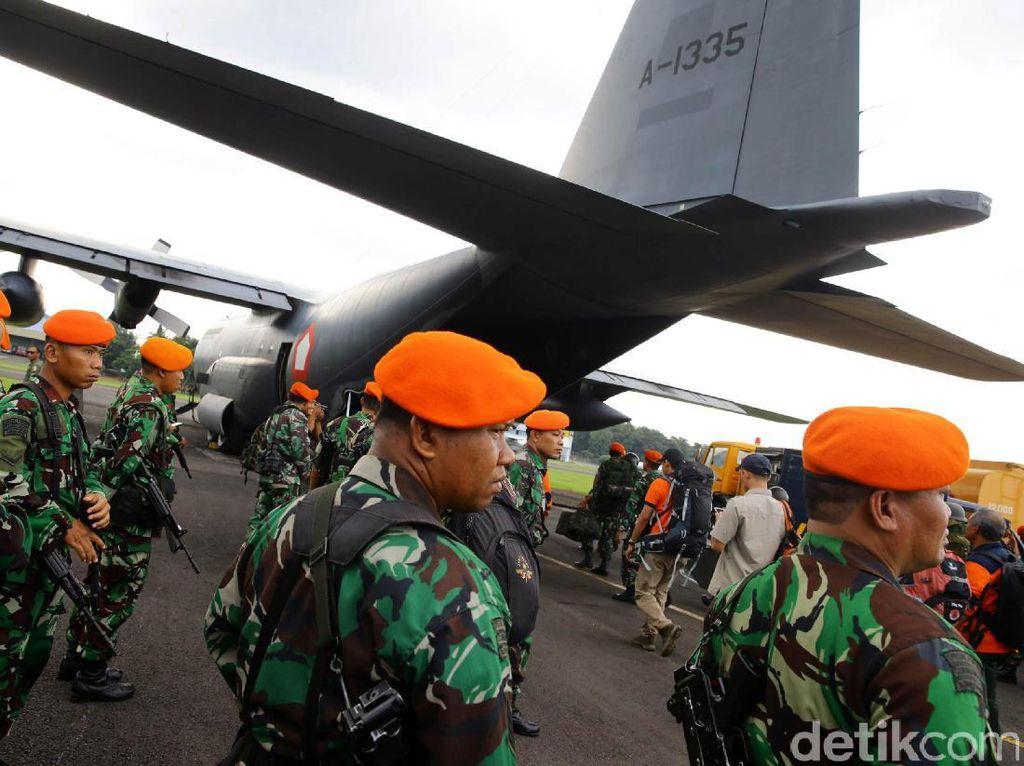 Pasukan ini diberangkatkan dari Lanud Halim Perdana Kusumah, Jakarta, Kamis (8/12/2016).