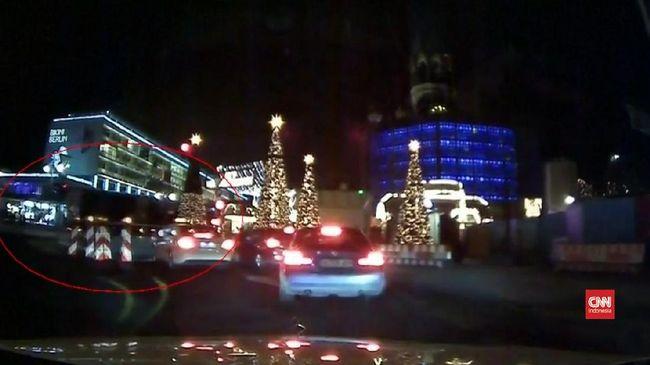 Kamera Dasbor Rekam Insiden Truk Tabrak Pasar Natal Berlin