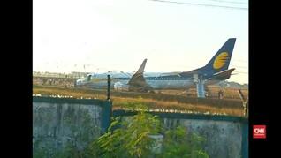 Kengerian Pesawat Tergelincir di India
