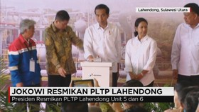 Presiden Jokowi Resmikan PLTP Lahendong Unit 5 dan 6