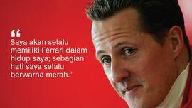 Nyali di Balik Kata-kata Michael Schumacher