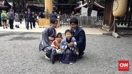 Upacara Anak Shinto di Meiji Jingu Tokyo