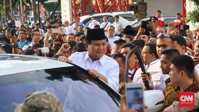 Prabowo Belum Terpikir Maju Pilpres 2019