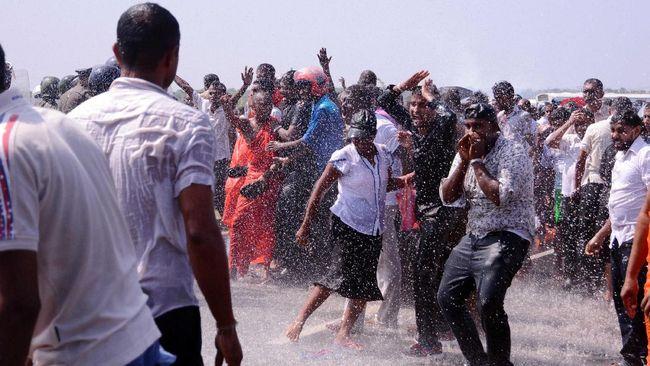 Demo Anti-investor China Berakhir Ricuh di Sri Lanka