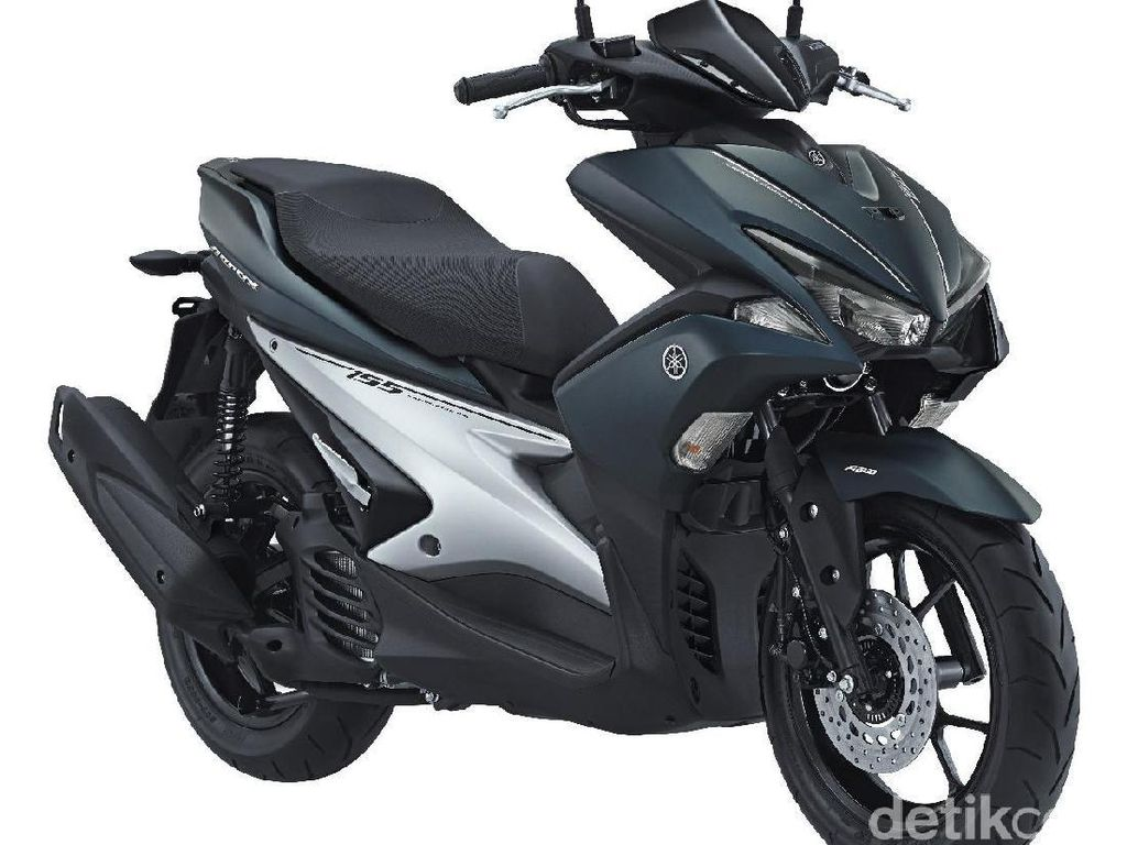 Motor paling seksi ketujuhdi Januari 2018 milikYamaha Aerox 155mencapai 16.587 unit. Foto: Yamaha