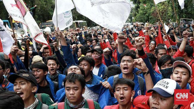 Massa BEM Seluruh Indonesia Tolak Bubarkan Diri