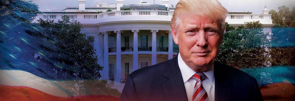 Trump Injak Gedung Putih