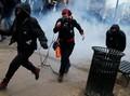 Demo Anti-Trump Rusuh, Polisi Gunakan Semprotan Merica