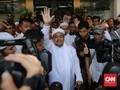 Rizieq Membisu Saat Penuhi Panggilan Polda Metro Jaya