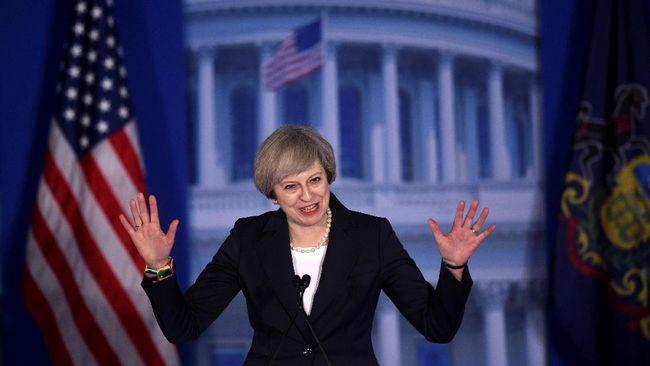 Terima Kunjungan Theresa May, Trump Sebut Hubungan Istimewa