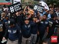 Relawan Ramaikan 'Nobar' Debat Cagub DKI