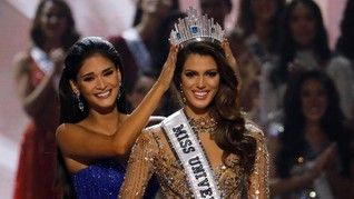 Iris Mittenaere, Miss Universe 2016, Puji Kecantikan Anggun