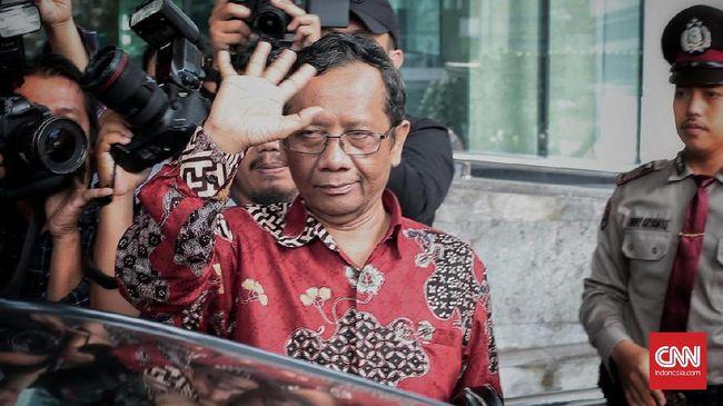 Mahfud MD Diskusi Tertutup dengan Pimpinan KPK