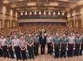 Jokowi Bertemu Ribuan Babinsa dan Bhabinkamtibmas di Solo