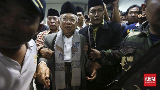 Ma'ruf Jawab Kritikan Rizieq soal Pencitraan ke Jokowi