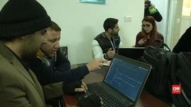 Pengungsi Irak dan Suriah Belajar Pemrograman