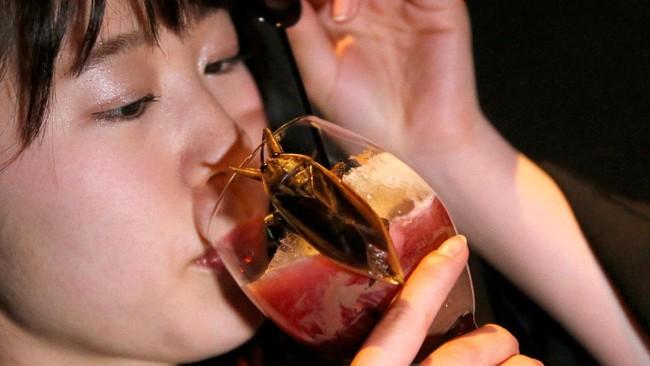 Biasanya konsumsi serangga banyak terdapat di Thailand. Namun kini olahan serangga sudah menjalar sampai ke Tokyo, Jepang. (REUTERS/Toru Hanai TPX IMAGES OF THE DAY)