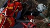 Dampak perang sipil dan inflasi yang terus meningkat membuat setidaknya 4,9 juta warga Sudan Selatan berisiko terjangkit kelaparan antara Februari hingga April. Jumlah ini akan meningkat menjadi 5,5 juta pada Juli mendatang. (Reuters/Siegfried Modola)