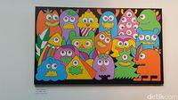 In a Good Mood merupakan lukisan lain yang dipamerkan. Lukisan ini adalah karya Hana Madness, salah satu orang dengan bipolar. Mood yang baik bisa didapat dalam fase stabil atau euthymic. Di fase inilah orang dengan bipolar punya perasaan sama dengan orang-orang lain pada umumnya. (Foto: Nurvita Indarini/detikHealth)