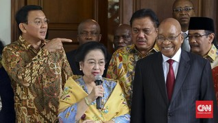 Didampingi Ahok-Djarot, Megawati Menjamu Presiden Afsel