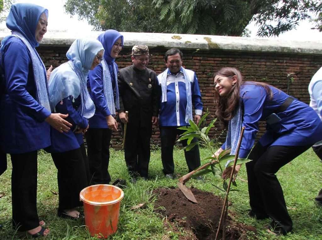 Kunjungan Safari PIA Fraksi Demokrat juga mengadakan bazar rakyat dari UKM binaan partai Demokrat yang diisi dengan pelatihan dan pembinaan bagi UKM untuk masyarakat serta penanaman pohon. (Foto: dok. PIA Demokrat)