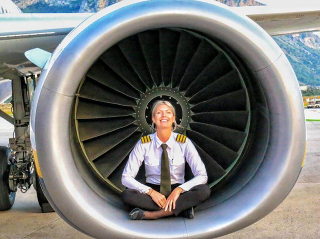 Mariamengaku telah bekerja selama 5 hari dan libur 4 hari agar cukup beristirahat sebelum terbang lagi. (Foto: Instagram/pilotmaria)