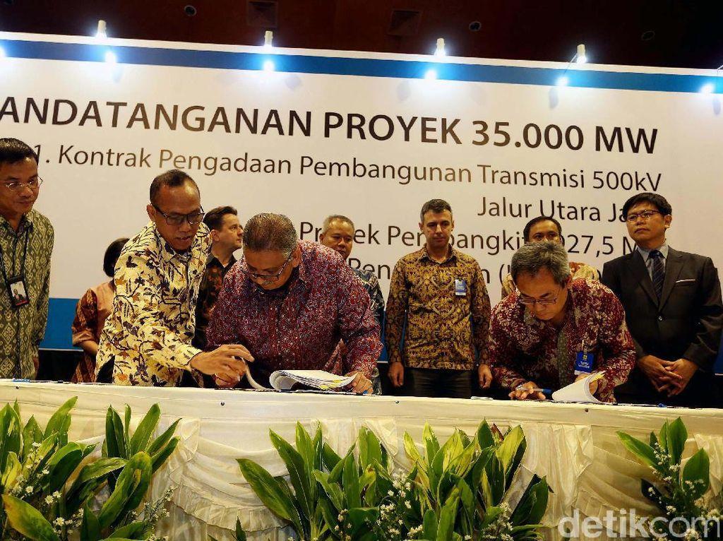 Proyek tersebut terdiri dari 1.825,5 MW pembangkit yang merupakan bagian dari program 35 ribu MW dengan skema EPC (Engineering, Procurement, Construction), serta proyek transmisi 500 kilo Volt (kV) sepanjang 928 kilometer sirkit (kms) di Jalur Utara Jawa.