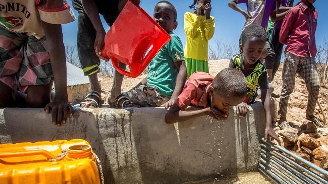 Sekitar 650 ribu anak-anak Somalia dilaporkan menderita kekurangan gizi, membutuhkan makanan ekstra untuk bisa bertahan hidup. (The International Federation of Red Cross and Red Crescent Societies/Handout via REUTERS.)