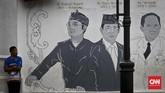 Partai NasDem menjadi partai pertama yang deklarasikan dukungan bagi Wali Kota Bandung Ridwan Kamil menuju perlombaan memperebutkan jabatan gubernur Jawa Barat, Minggu (19/3). (CNN Indonesia/Adhi Wicaksono)