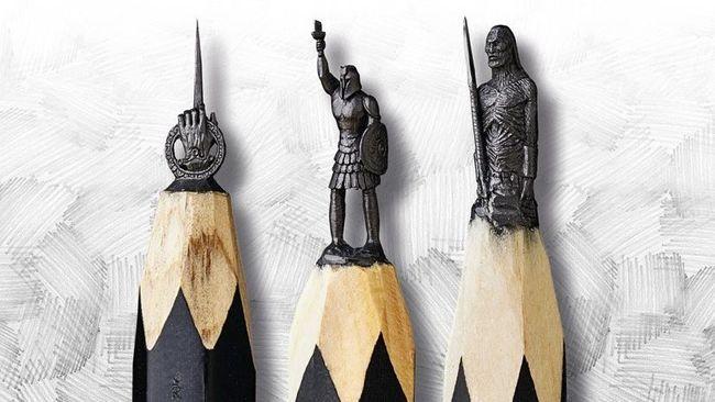 Pedang Jon Snow dan Iron Throne 'Disulap' di Ujung Pensil