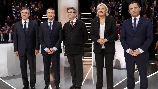 Pasca Penembakan, Capres Perancis Adu Argumen soal Kampanye