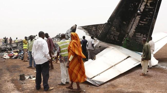 Insiden ini terjadi di sebuah bandara di Wau, barat laut negara tersebut. (REUTERS/Jok Solomun)