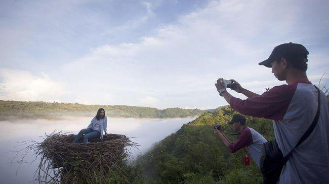 Enam Titik 'Selfie' di Desa Mangunan Bantul Rawan Longsor