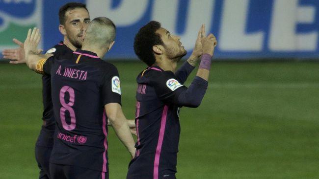 Merayakan 100 Gol Neymar Bersama Barcelona