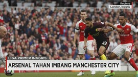 Arsenal Tahan Imbang Manchester City