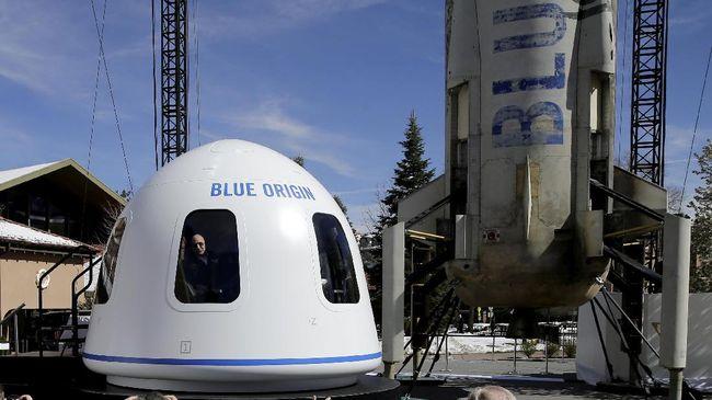 Blue Origin Sukses Uji Coba Roket ke Luar Angkasa