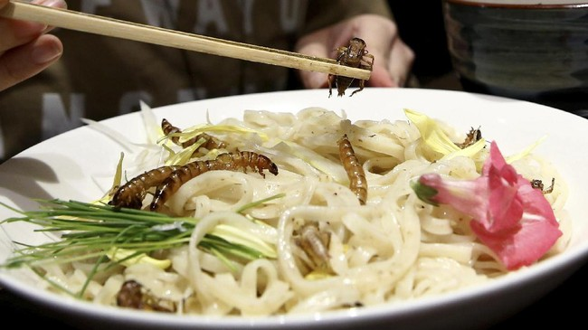 Ajang ramen serangga ini digagas oleh pemilik restoran Yuta Shinohara. Dia jugalah otak di balik berbagai ajang makan serangga yang digelar di Tokyo.(REUTERS/Kim Kyung-Hoon)