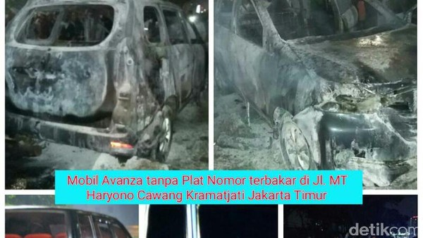 Mobil Terbakar di Cawang