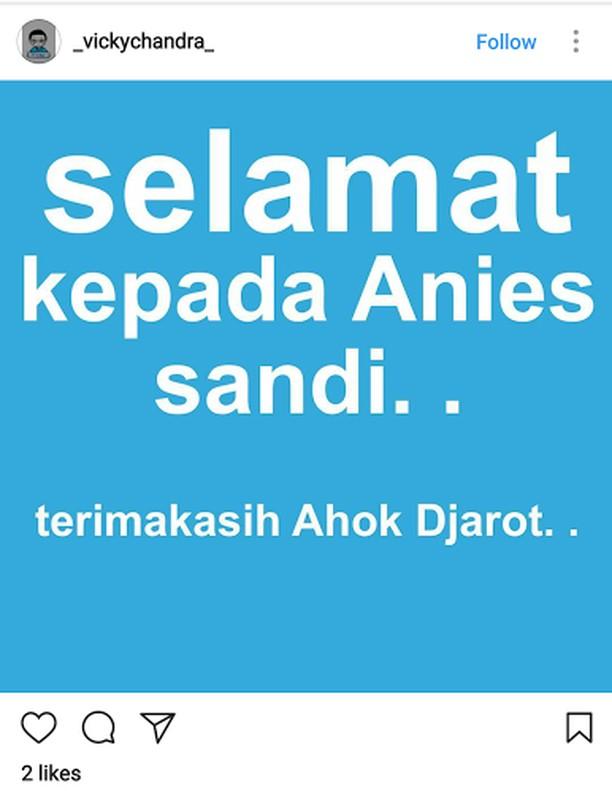 Ucapan Selamat dan DP 0% Sambut Kemenangan Anies-Sandi
