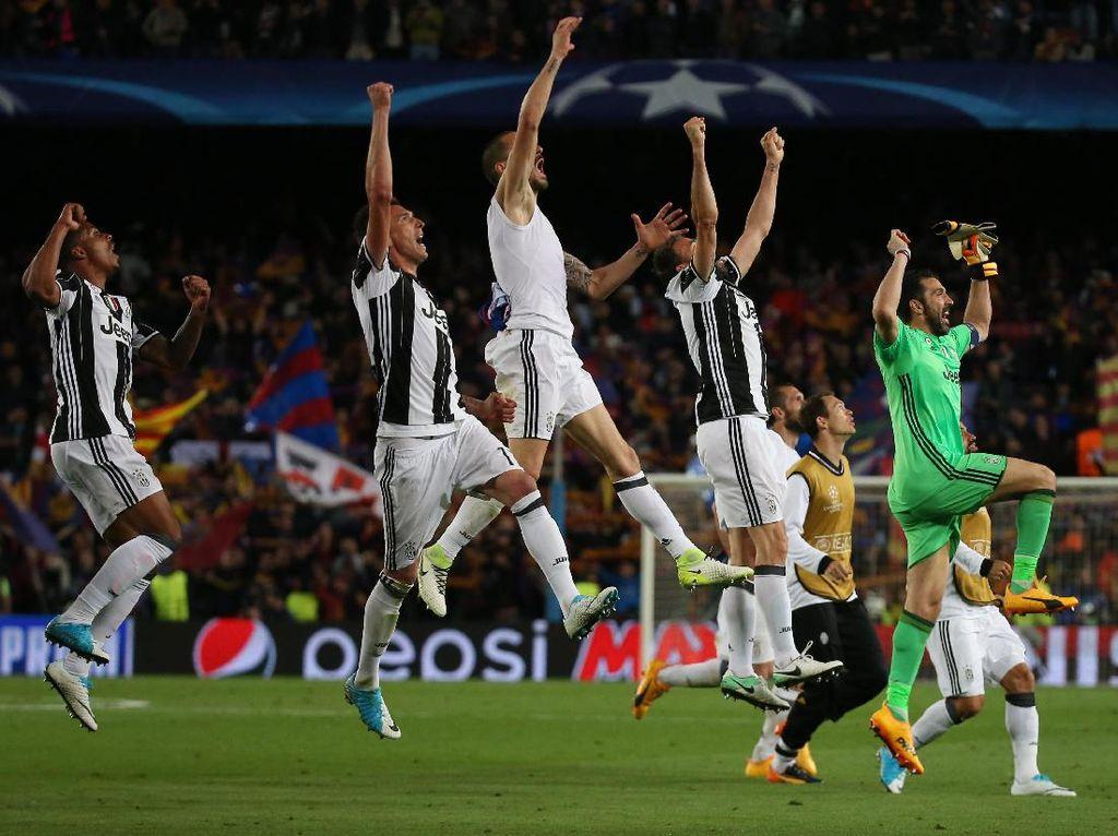 Dengan hasil ini, Juventus melaju ke semifinal dengan agregat 3-0, sementara Barca tersingkir. Reuters/Sergio Perez.