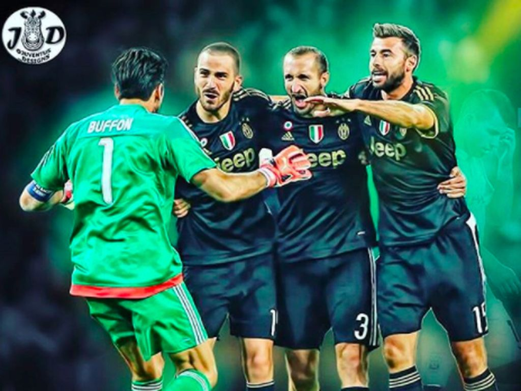 Trio pertahanan Juventus plus ketangguhan Buffon tak dapat ditembus Barca. Foto: istimewa
